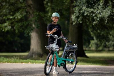 Lady on Beryl Bike