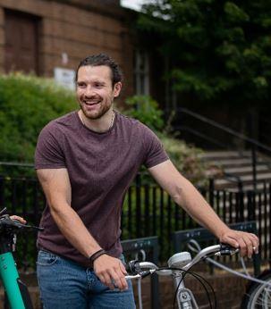 Man on Beryl Bike